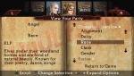 Dungeons and Dragons: Tactics - Character Screen
